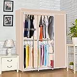 Homdox Non Woven Folding Practical Portable Clothes Storage Rack Closet Wardrobe, 49.5 x 16.4x 68.3inch (L x W x H)