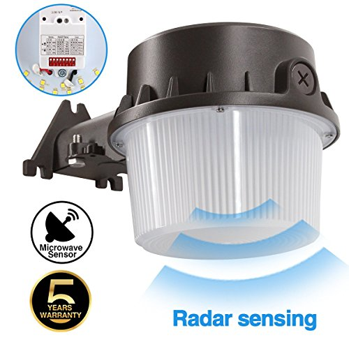 Radar Sense, LED Yard Light for Area Lighting LED Outdoor Barn Light, (250-350W Equivalent), 5000K Daylight, 4200lm Floodlight, Wet Location, Radar Sensor Included, 50K 1Pack