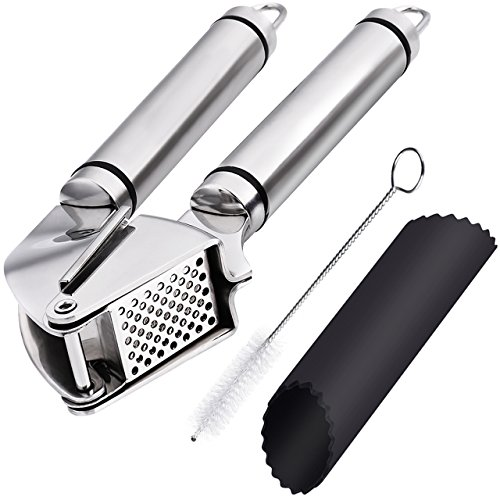 OMorc Garlic Press and Peeler Set, Stainless St...