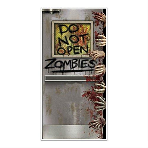 HALLOWEEN Walking Dead Party ZOMBIE LAB Do Not Open DOOR COVER Decoration Prop -