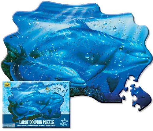 Wild Republic 64583 - Puzzle, Motiv Delphin, 50Teile