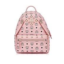 Mcm Women's Mmk7ave80pz001 Pink Pvc Backpack