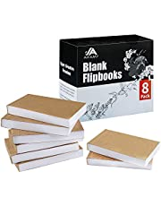Blank Flipbook for Animation, Sketching, and Cartoon Creation
