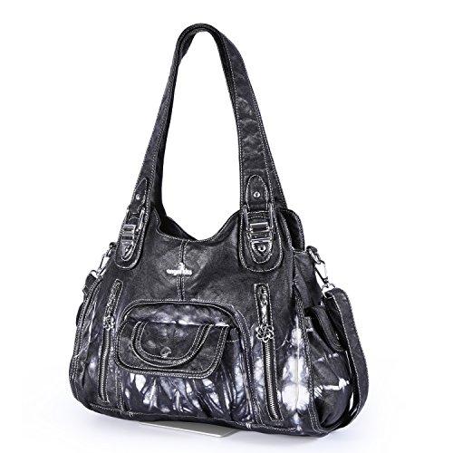 Angelkiss-Womens-Purse-Top-Handle-Satchel-Handbag-Crocodile-Shoulder-Bag-Purse