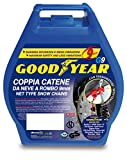 Goodyear 77912'G9', 9 mm car passenger snow chains, TUV and ONORM approved, Size 110