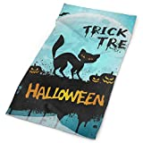 Headband Happy Halloween Moon Night Black Cat Kitten Bat Pumpkin Outdoor Scarf Mask Neck Gaiter Head Wrap Sweatband Sports Headwear