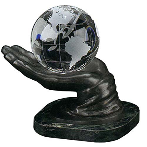 In Your Hand World 4-Inch Diameter Desk Globe (Crystal Globe Desktop)
