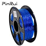 PINRUI TPU Filament 1.75mm Flexible 3D Printer Filament 1.75mm TPU Filament Diameter Accuracy +/-0.03mm 0.8kg Spool (Blue)