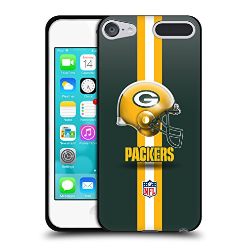 Official NFL Helmet Green Bay Packers Logo Black Soft Gel Case for Apple iPod Touch 5G 5th Gen