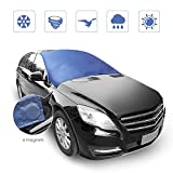 Windshield Cover Magnetic, Rectangle Ice Frost Rain Resistant Snow Cover 72''x57''with 6 Non-Scratch Magnetic Edges for Most Vehicle (Car Van SUV)