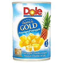 Dole Tropical Gold Pineapple Chunks in Juice (567g) - Pack of 2
