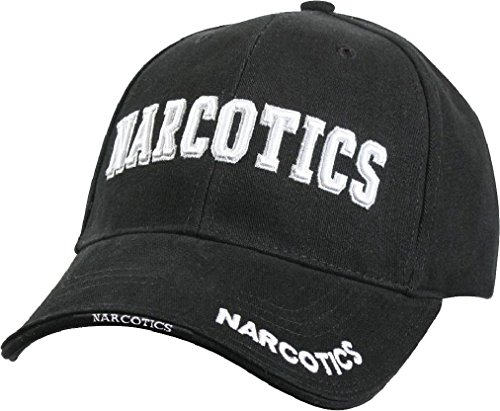 Black Deluxe Narcotics Low Profile Baseball Cap Hat (Deluxe Tri Fold Shovel)