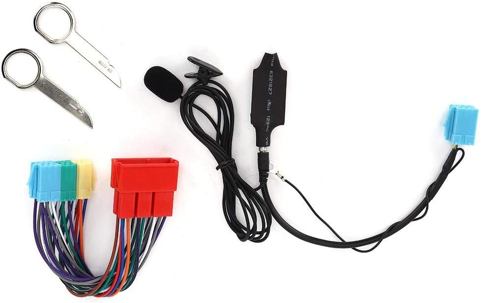 Adaptador de audio Bluetooth Adaptador de audio Bluetooth con altavoz Est/éreo para autom/óvil Se adapta para A2 A3 8L 8P A4 B5 B6 B7 A6 Adaptador AUX Adaptador de audio