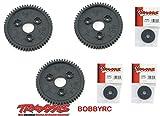 Bobbyrc Traxxas 3957 Spur Gear 56T 0.8P (3pcs) 1 10 Slash 4x4 Summit T-Maxx Jato E-Revo