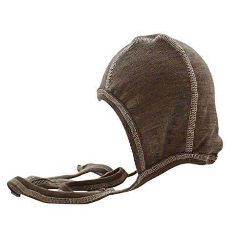 Silk Wool Cap (Engel Merino Wool Silk Baby Newborn Organic hat (50/56, Walnut))