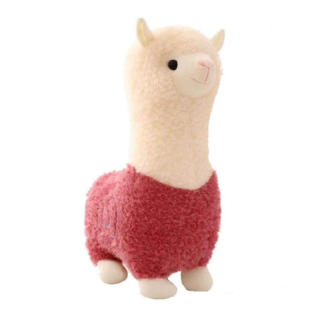 New Kids Children Baby Girls Cotton Blend Plush Cute Small Alpaca Doll Toys Stuffed Animals & Teddy Bears (Pink)