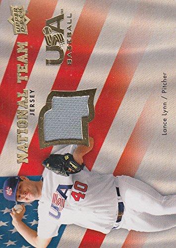 2008 Upper Deck USA National Team Jerseys #LL Lance Lynn Jersey - NM-MT
