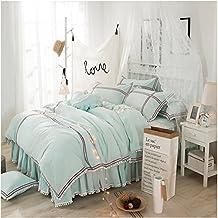 Generic Princess Bedding Set, Girls Bedding Set, Milliken Ball Duvet Cover Set, Green Comforter Set, Twin 3-Pieces