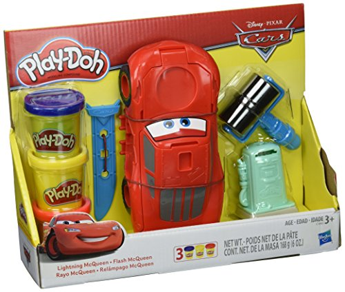 Disney Pixar Cars Playsets - Play-Doh Disney Pixar Cars Lightning McQueen, Ages 3 and up (Amazon Exclusive)