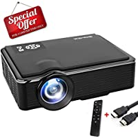 SOMEK Full HD 1080p 2400-Lumens LCD Home Theater Projector