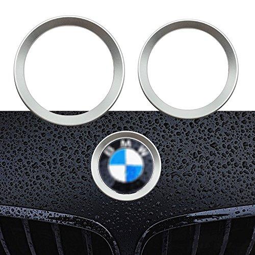 Logo Silver Series - 1 Set Car Front and Rear Logo Chrome Silver Ring Decoration For BMW 3 4 Series M3 M4 E36 E46 E90