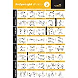 "BODYWEIGHT EXERCISE POSTER VOL 2 - Total Body Workout - Personal Trainer Fitness Program - Home Gym Poster - Tones Core, Abs, Legs, Gluts & Upper Body - Improves Training Routine (20"" x 30"")"