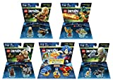 Sonic The Hedgehog Level Pack + The Lord Of The Rings Legolas + Gimli + Gollum + The Legend Of Chima Cragger Fun Packs - LEGO Dimensions - Not Machine Specific