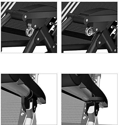 サンラウンジャー、ガーデンチェアパティオラウンジチェアゼログラビティフォールディングシェーズラウンジ屋外ビーチキャンプポータブルネックネックサポート付き枕200kg(色:黒い正方形のチューブ)