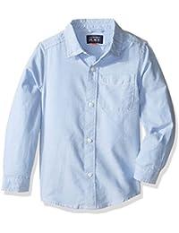 Baby Boys' Uniform Solid Long Sleeve Oxford Shirt