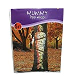 Beistle Everyday Day Lifesize Plastic Mummy Tree Wrap Halloween Party Decor, 5 feet
