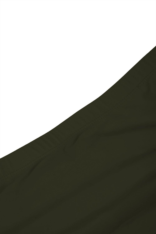 KAKALOT Women's Sexy Scoop Neck Crop Top with High Cut Bikini Bottom Sets Beachwear L Army Green by KAKALOT (Image #7)