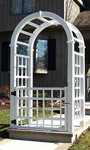 Dura-Trel Hartford Arbor with Winford (Vinyl Arbor Gate)
