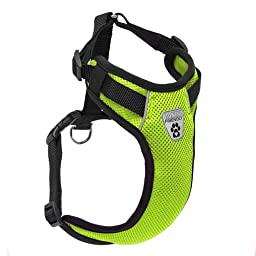 Canine Friendly Vented Vest Harness, Small, Lime