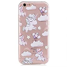 Samsung Galaxy S7 Case, JIEJIEWYD TPU Silicone Gel Soft Clear Case Cover for Samsung Galaxy S7 - Creative Funny Cartoon unicorn