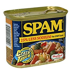 Glorious Spam 25% Less Sodium Than Spam Classic, 4.5 Pound