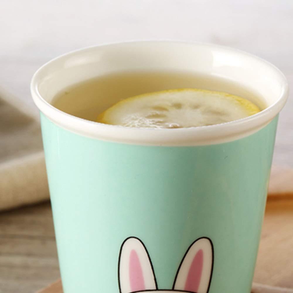 Taza de café Taza de cerámica Taza creativa Taza de 4 piezas Conjunto Taza en casa Sala de estar Taza linda Taza de café simple Taza de leche para el ...