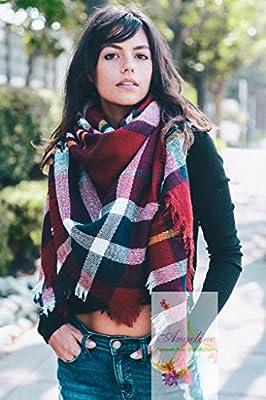 Fashion Plaid Tartan Scarf Stylish Warm Blanket Scarf Wrap Shawl Autumn Winter Scarf