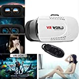 """LarKoo 3D BOX VR Headsets Virtual Reality Headset Glasses with Bluetooth Remote Controller for 4.7"""" - 6.0"""" iphone 4S 5 5S 5C 6 6S Plus SE Galaxy S4 S5 S7 S7 Edge + LG Sony HTC 3D Movies Games"""