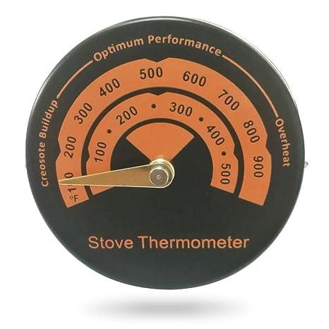 KOBWA Termómetro magnético de Lectura rápida de aleación de Aluminio para Horno, medidor de Temperatura