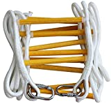 ISOP Emergency Fire Escape Ladder 25 ft (3 Story) Flame Resistant Safety Rope Ladder With Hooks - Fast To Deploy & Easy To Use - Compact & Easy to Store - Reusable - Weight Capacity up to 2500 Pounds