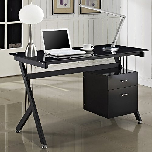 ogima-deluxe-tempered-glass-square-home-office-computer-desk-black