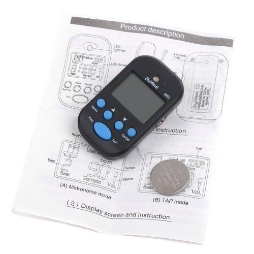 Kingzer Lightweight Portable LCD Digital Beat Tempo Mini Metronome Black from KINGZER