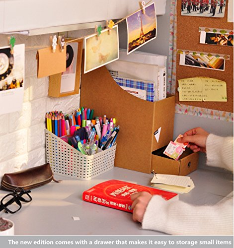 Caveen File Organizer Kraft Paper File Holder Office Supplies ...
