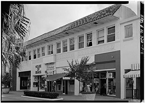 Photo: Lincoln Road Mall,Miami,Miami-Dade County,Florida,FL,HABS,United - Map Miami Lincoln Road