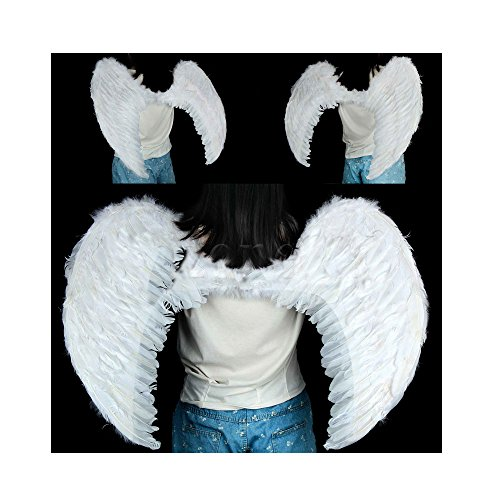 New White Feather Angel Wings EXTRA LARGE Photo Props adult Women Men - Pictures Males