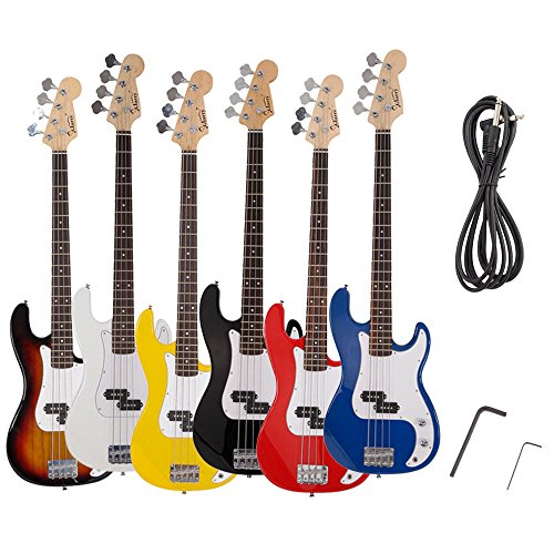 Guitar Bass Electric String 4 Fender Black Case Full Size with Strap Guitar Bag Amp Cord