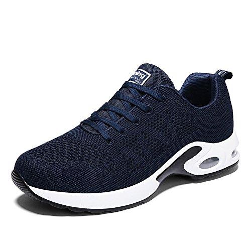 populalar Uomo Donna Air Scarpe da Ginnastica Corsa Sportive Running Fitness Sneakers Basse Interior Casual all'Aperto Leggero e Traspirante 34-43 EU Blu 2