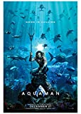 """Aquaman (2018) Advance Movie Poster - Size 24"""" X 36"""" - This is a Certified Poster Office Print with Holographic Sequential Numbering for Authenticity."""