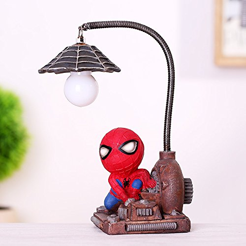 NEWNESS WORLD 1PC Creactive Ornament Spiderman Resin Ornament/Toys for Children/Home Decoration Birthday Gift/Spiderman Mini Night Light Pattern B