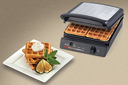 Chef'sChoice 854 International Classic WafflePro 4-Square Waffle Maker Model 854 & Zonoz ez-Mini Grab and Lift Silicone Tongs (Bundle) by Chef's Choice (Image #6)